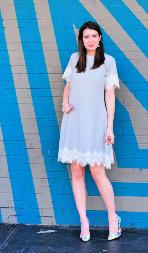 Lace Trimmed Swing Dress Sewing Pattern