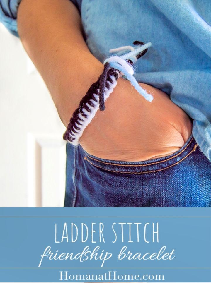 Ladder Stitch Friendship Bracelet