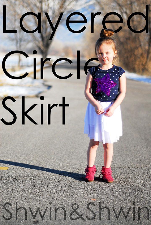 Layered Circle Skirt Sewing Pattern