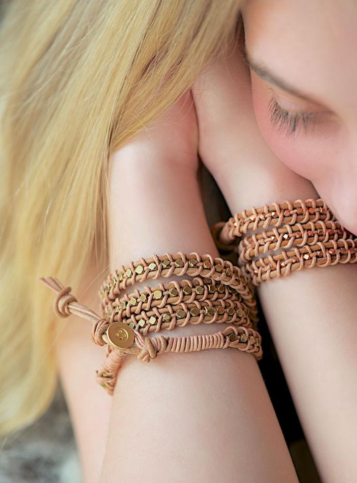 Leather Wrap Bracelet Pattern