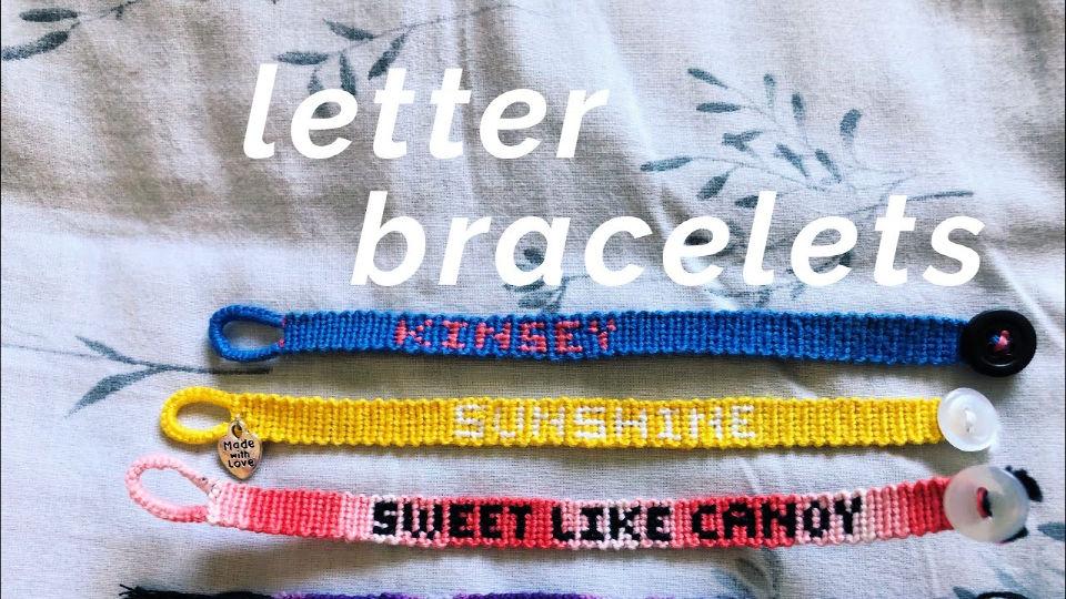 Letter Friendship Bracelet Pattern