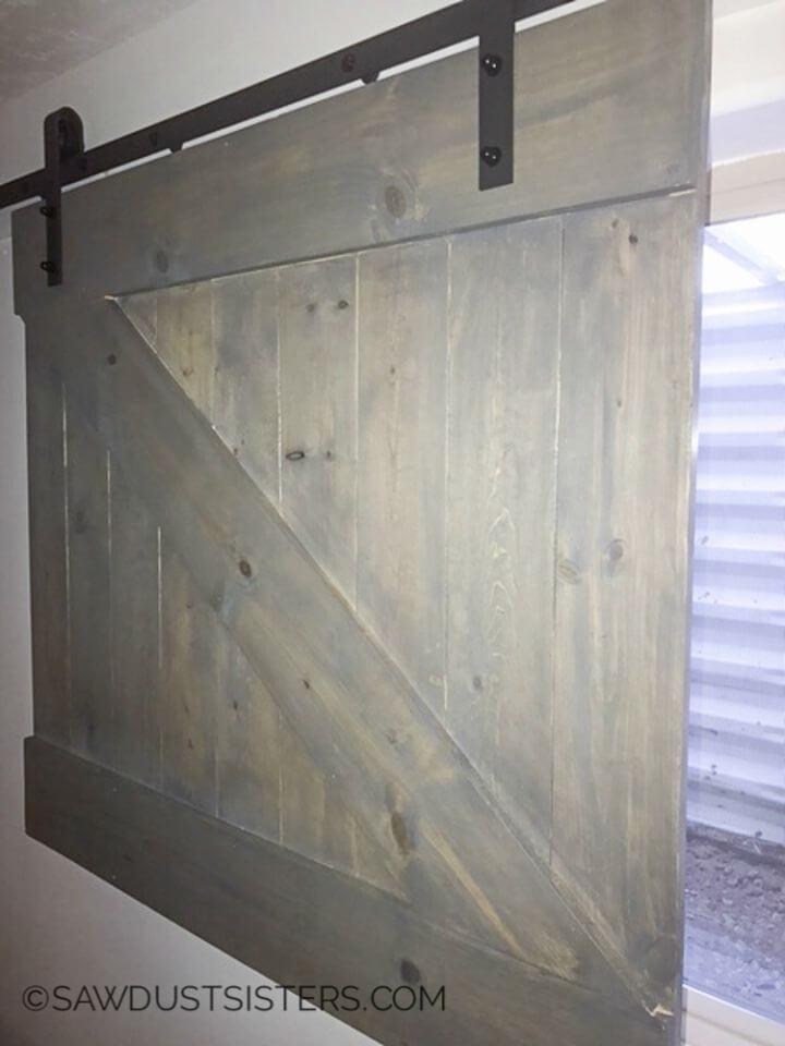 Make Barn Door Style Window Covering