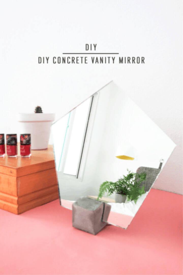 Make Concrete Vanity Mirror