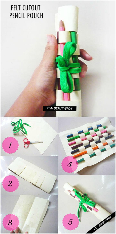 Make Felt Cutout Pencil Pouch