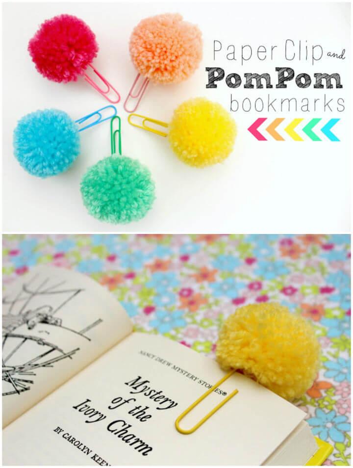 Make Pom Pom Paper Clips