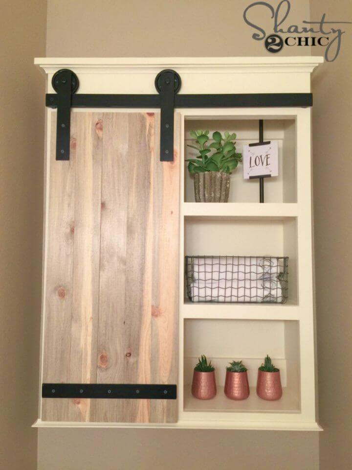 Make Sliding Barn Door Bathroom Cabinet