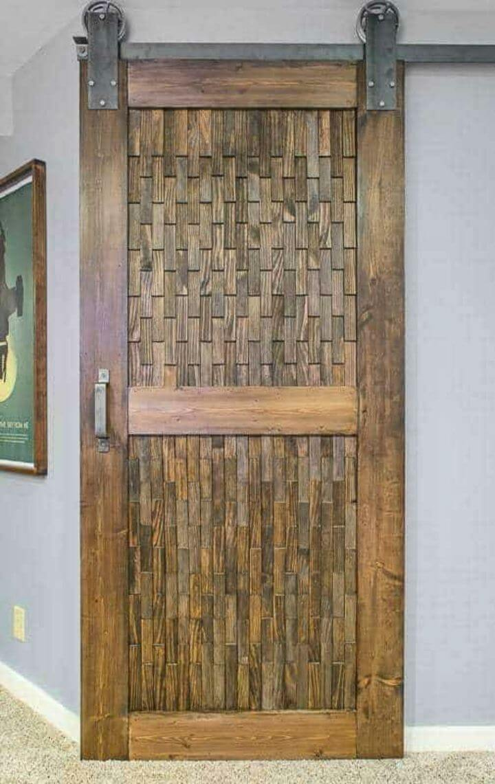 Make Sliding Barn Door With Wood Shim Panels