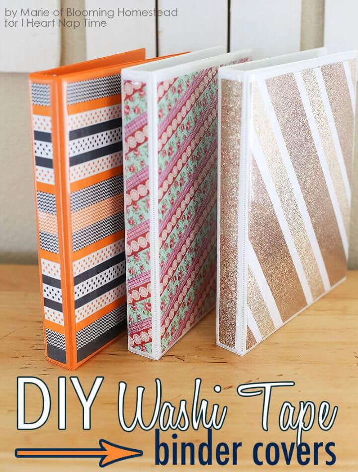 Make Washi Tape Binder Covers