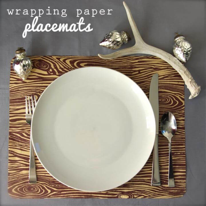 Make Wrapping Paper Placemats
