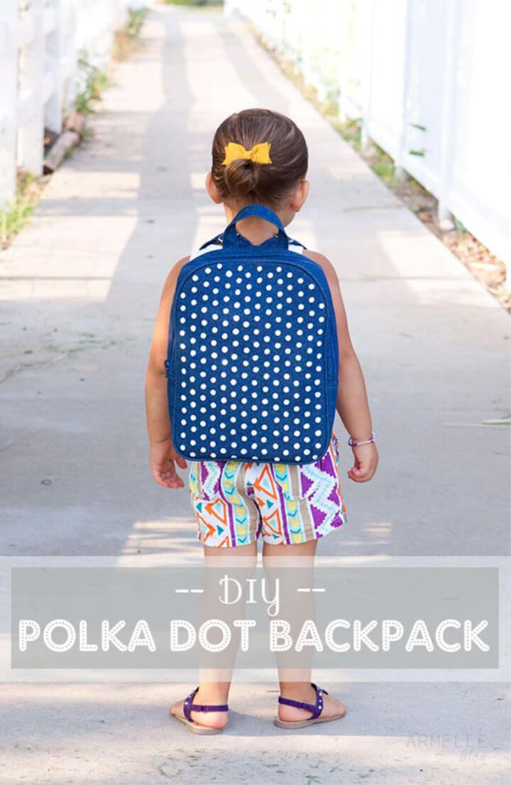 Make Your Own Polka Dot Backpack
