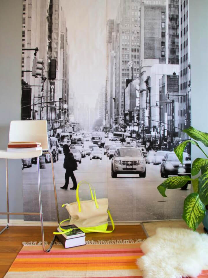 Make a Personalized Photo Wall Mural