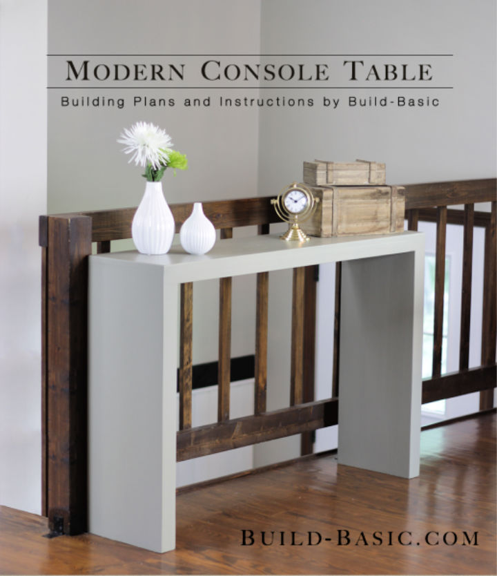 Modern DIY Console Table