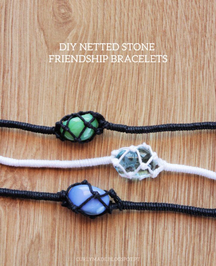 Netted Stone Friendship Bracelets