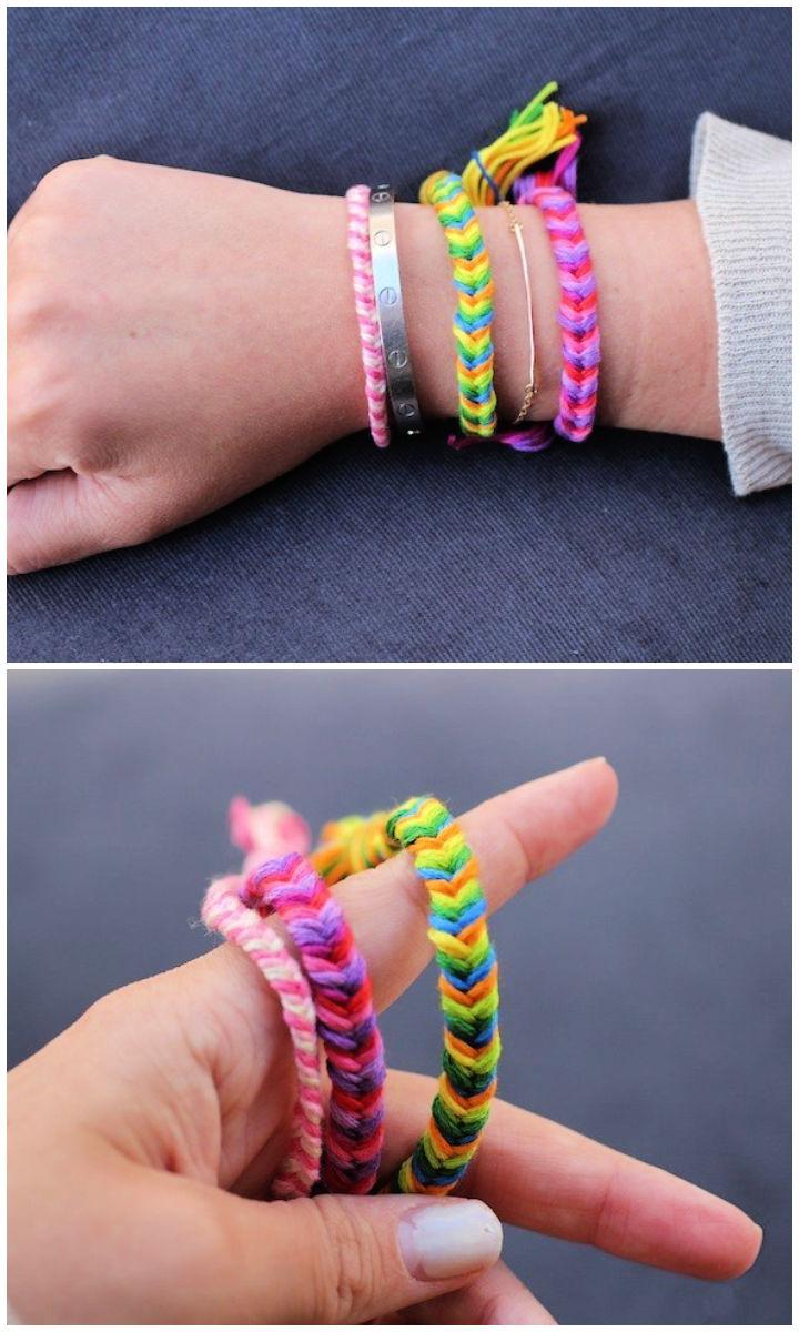 Petite Fishtail Friendship Bracelet Pattern
