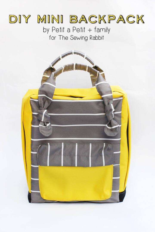 Pretty DIY Mini Backpack