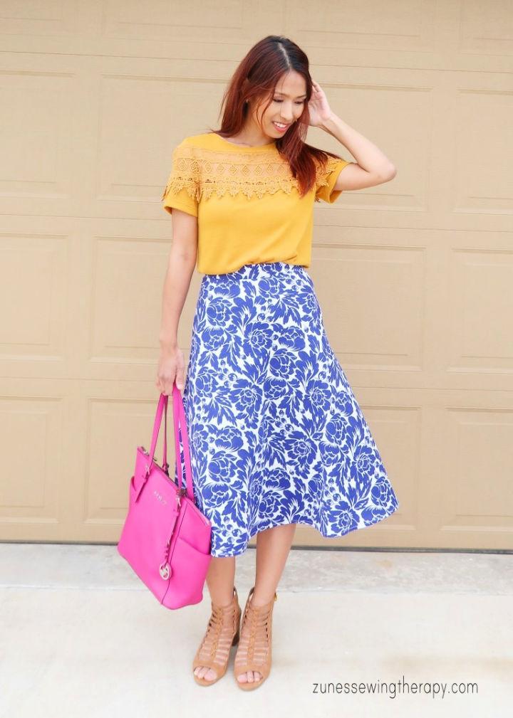 Quarter Circle Skirt – Free Pattern