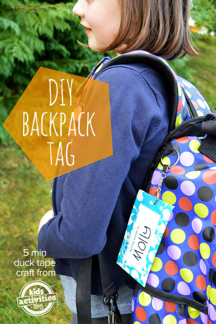 Quick DIY Back to School Backpack Tag