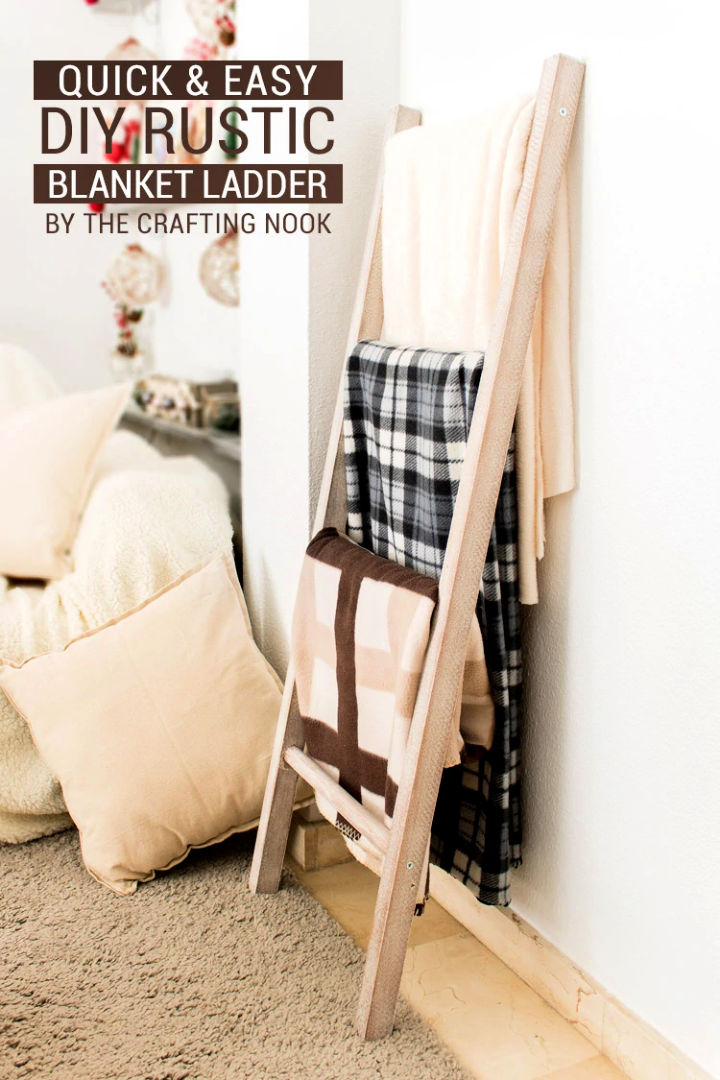 Quick and Easy Blanket Ladder
