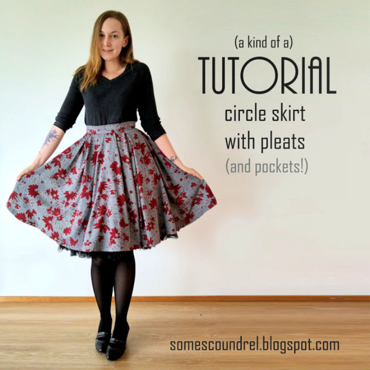 Sew a Circle Skirt With Pleats