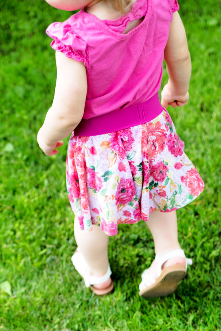 Simple Circle Skirt Pattern for Kids