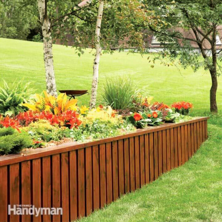 Simplest Cheapest DIY Retaining Wall
