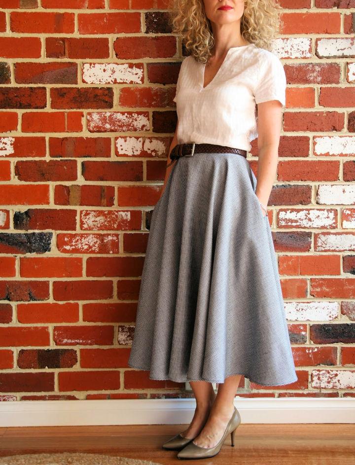 Stylish Full Circle Skirt Sewing Pattern