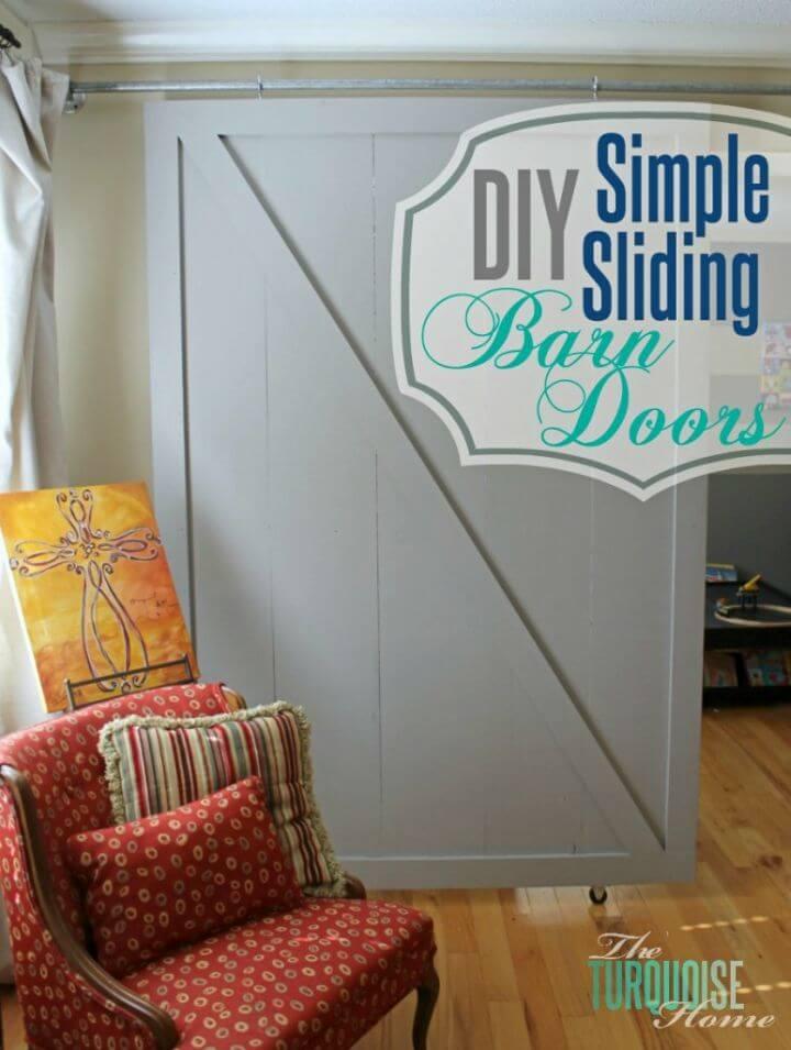 Super Easy DIY Sliding Barn Doors