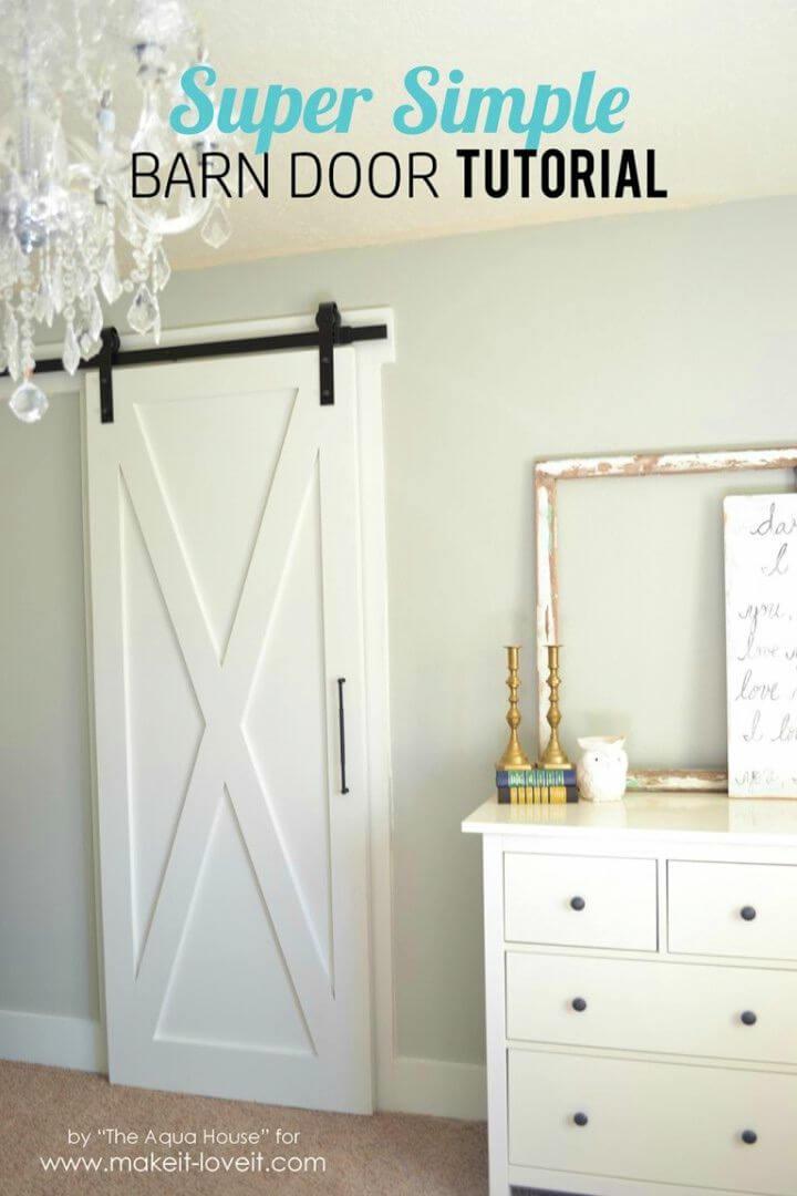 Super Simple DIY Barn Door