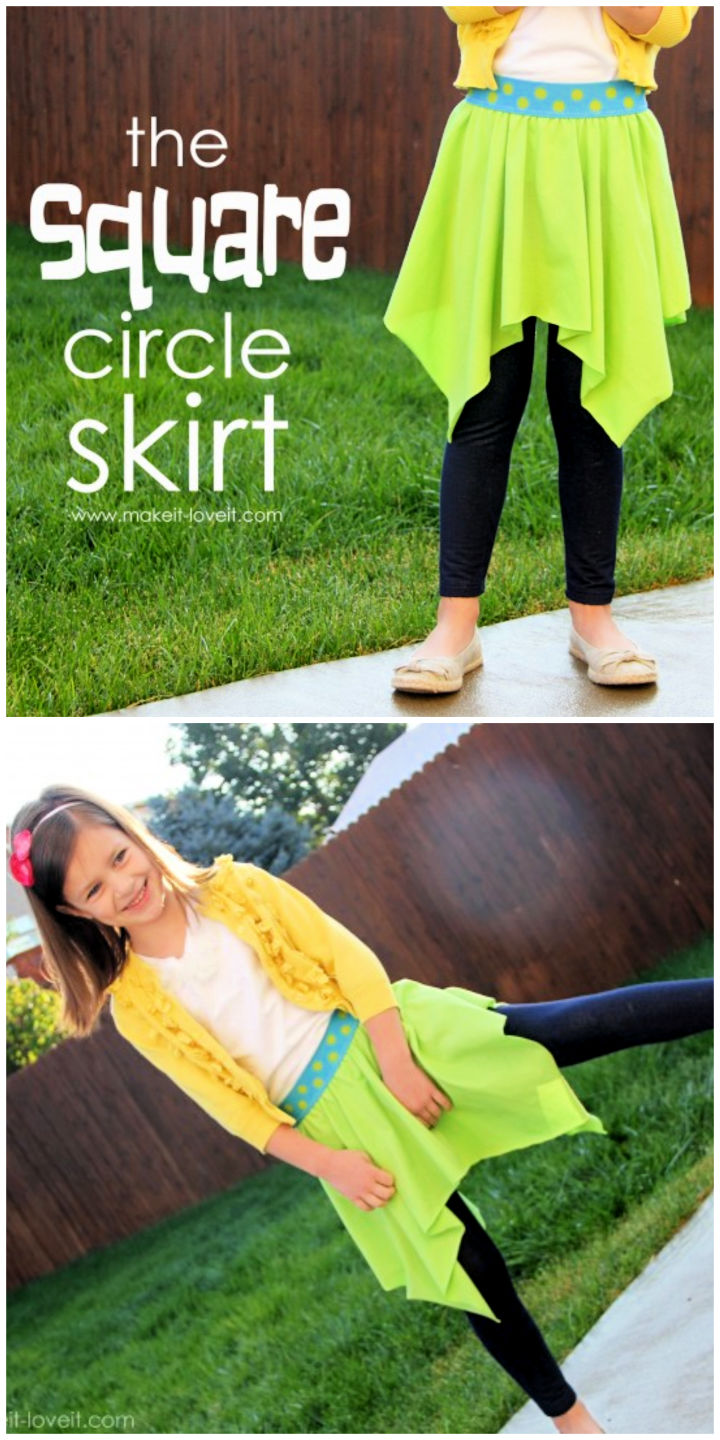The Square Circle Skirt Sewing Pattern