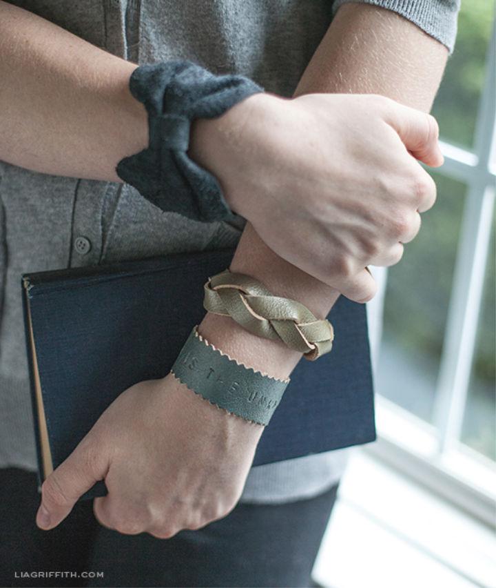 Three DIY Leather Bracelets