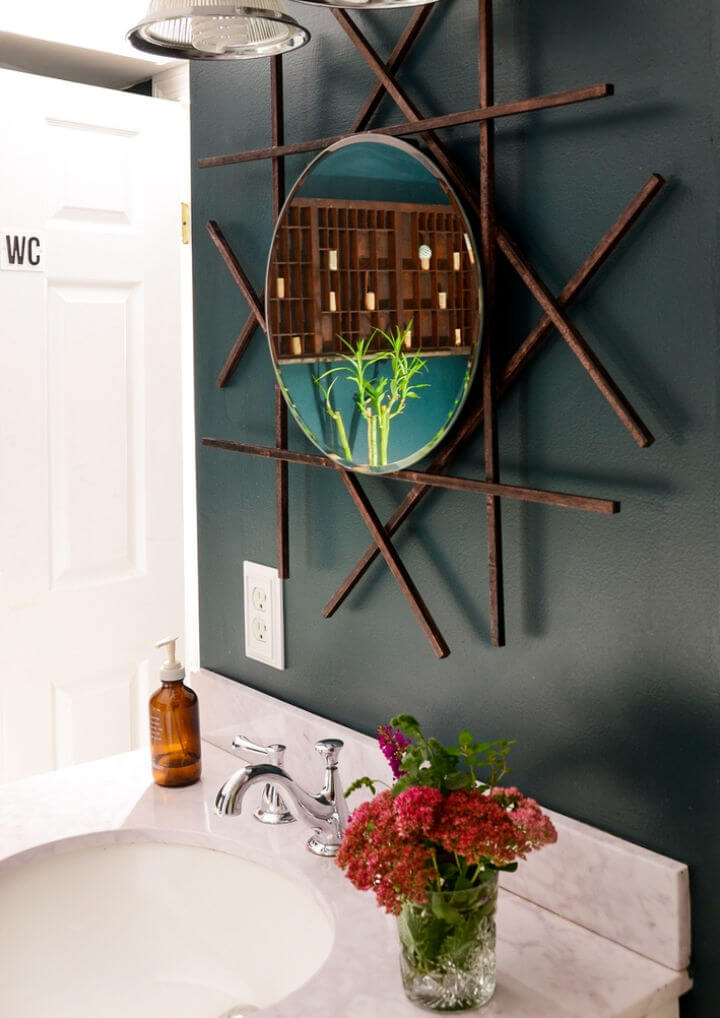 Vanity Mirror Using Wooden Dowel Rods