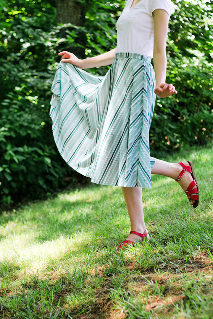 Zipper Free Half Circle Skirt Pattern