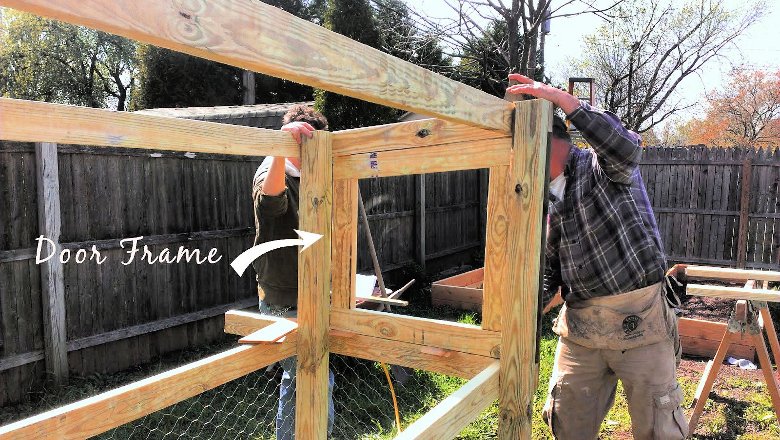 build a slanted roof chicken coop
