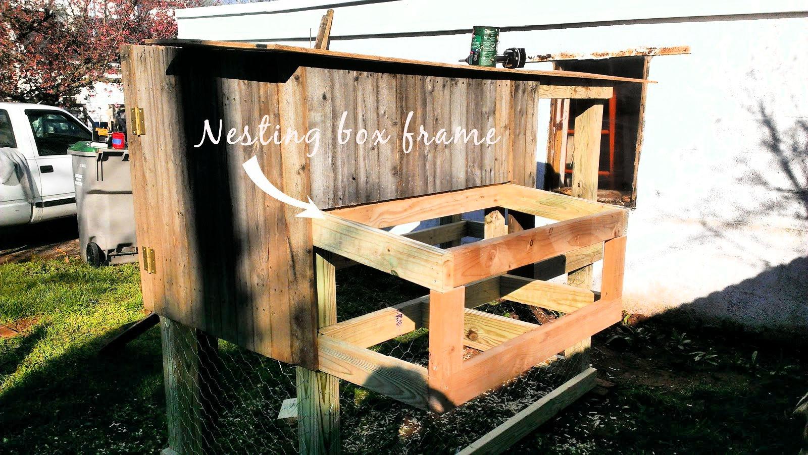 chicken coop nest box frame