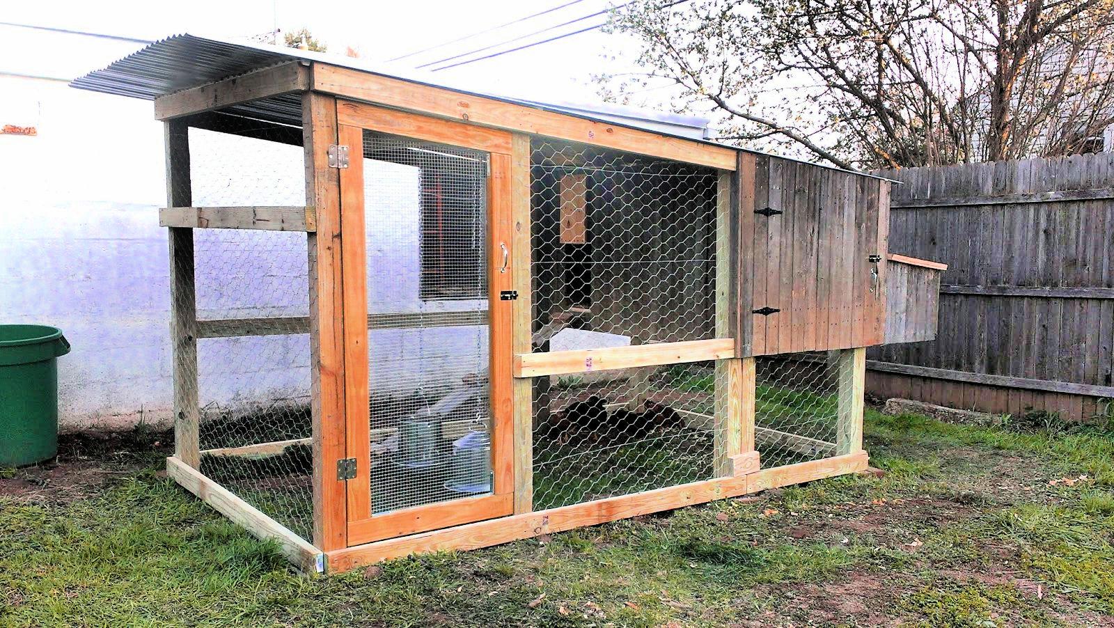 diy chicken coop with run tutorial