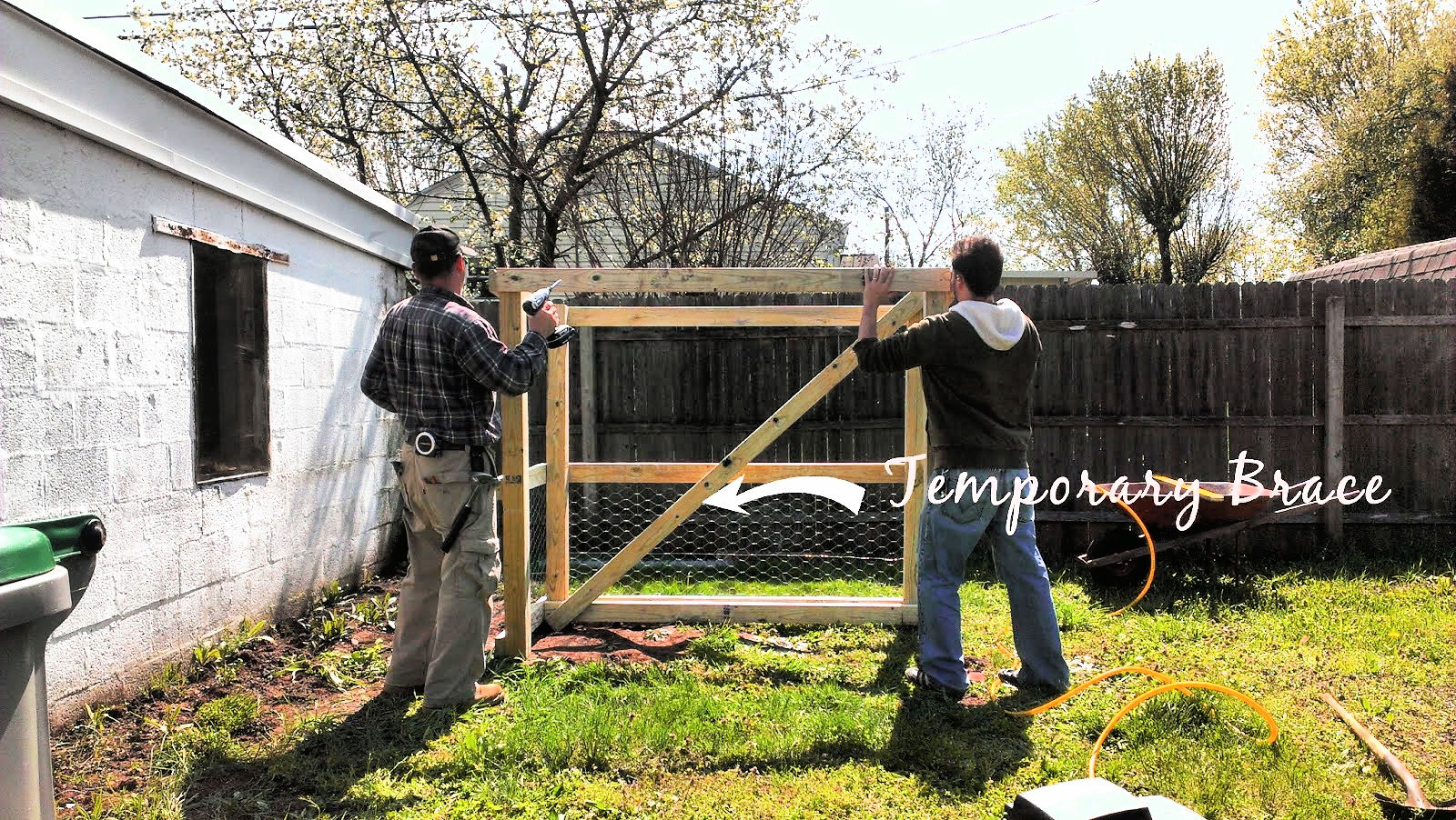 making the coop frame