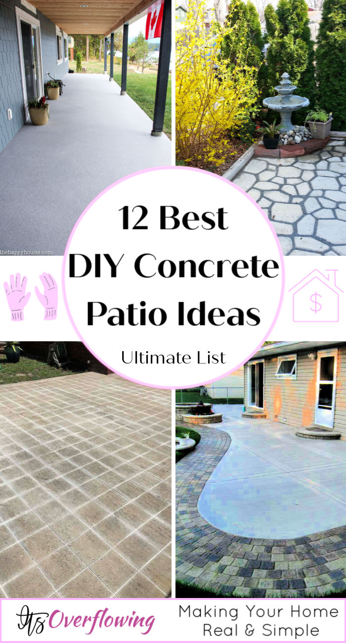 12 Best Diy Concrete Patio Ideas That Beginners Can Do