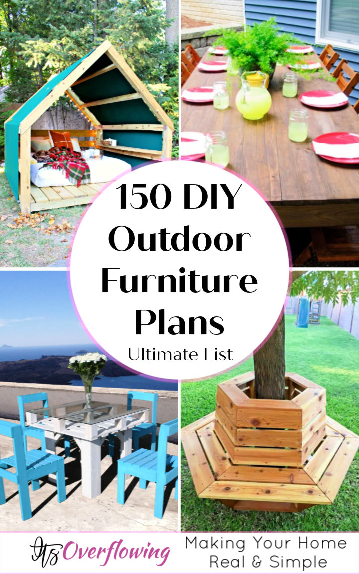 wood outdoor seating plans
