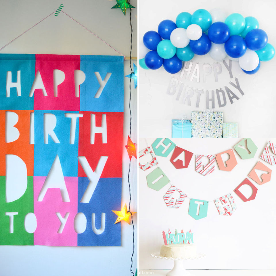 20 Diy Birthday Banner Ideas With Free Printable Templates