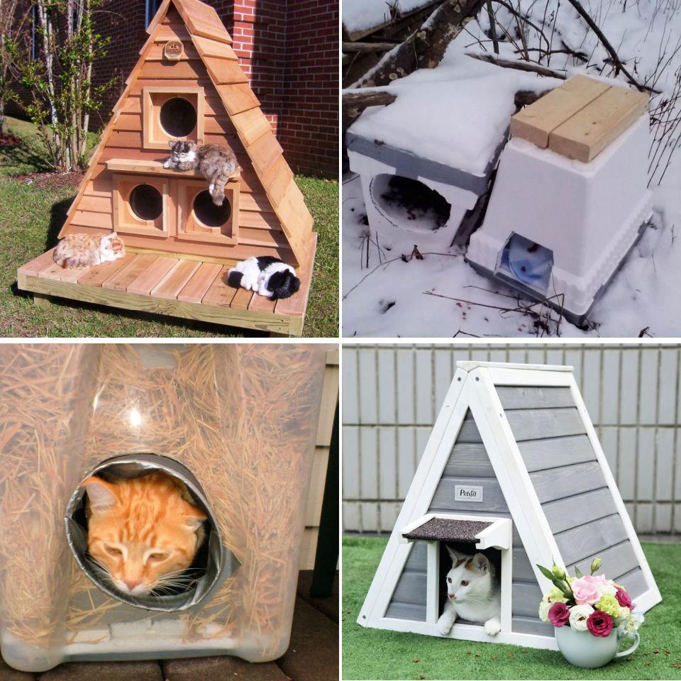 30 Best Diy Outdoor Cat House Plans Outdoor Cat Shelter