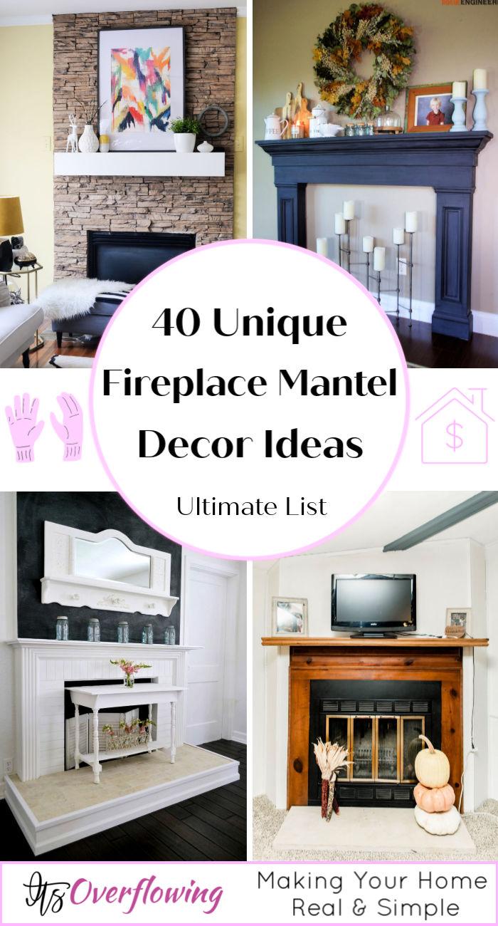 40 Unique Fireplace Mantel Ideas To Decor Under Budget