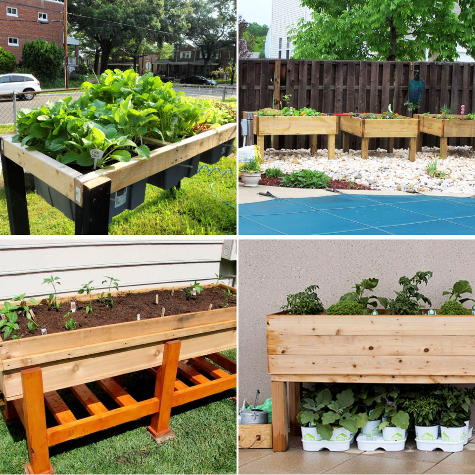 15 Free Waist High Raised Garden Bed Plans - Its Overflowing
