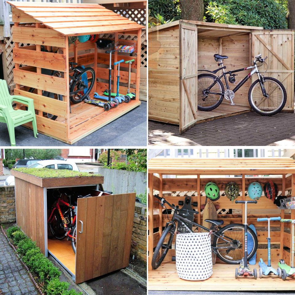 48 Free DIY Bike Shed Plans  DIY Outdoor Bike Storage