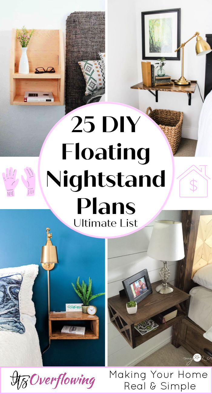 25 Easy To Build Diy Floating Nightstand Side Table Plans