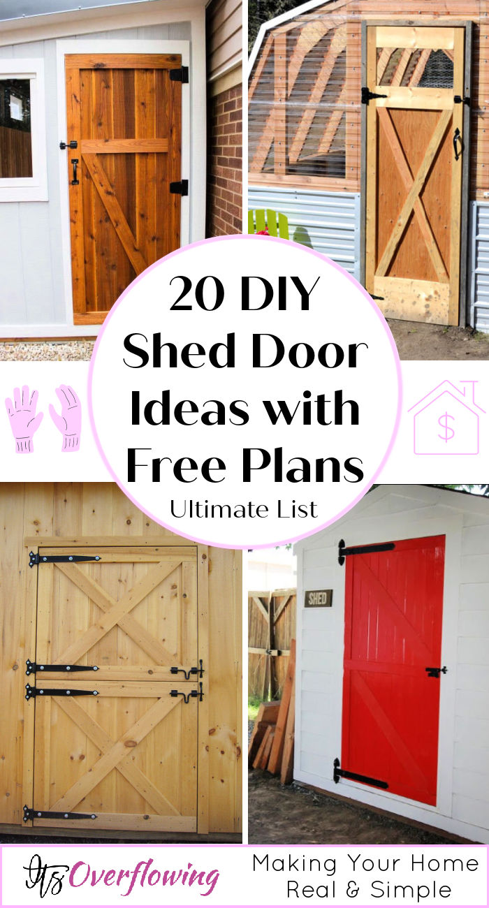 Outstanding How To Make A Storage Shed Door